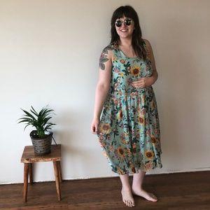 EUC ASOS Curve Floral Dress - Size 14/16